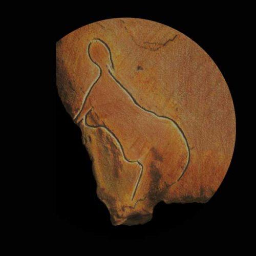 Gott-Mutter-Darstellung im Mutterhöhlenheiligtum von Cussac