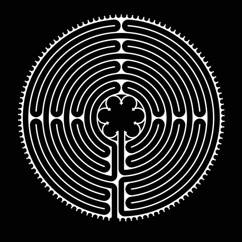 Labyrinth aus der Kathedrale von Chartres